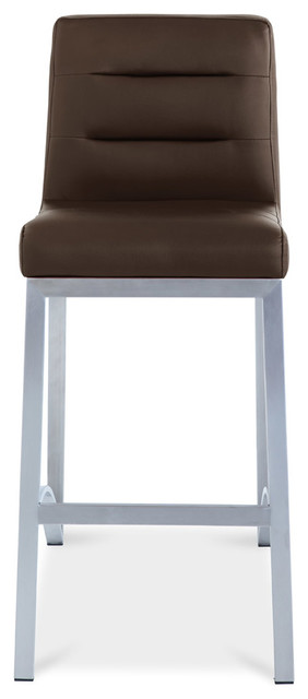Lynx Counter Height Contemporary Stool With Metal Base