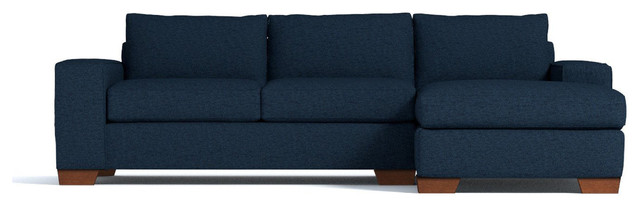 Melrose 2-Piece Sectional Sleeper Sofa, Baltic, Chaise on Left