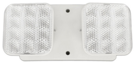 Nicor Erl2-10-Wh Emergency Led Remote Dual Head Fixture.