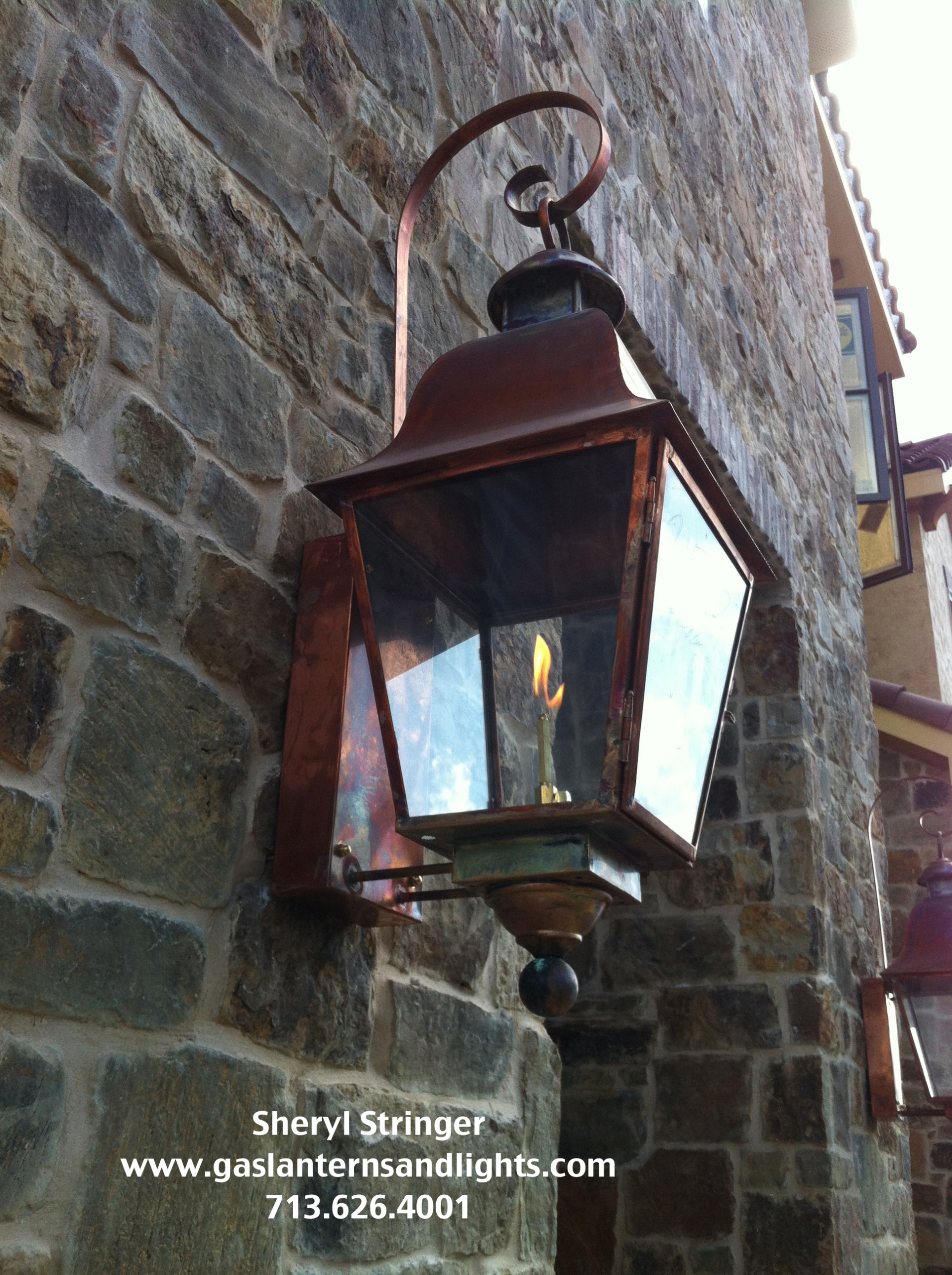 Tuscan Gas Lanterns by Sheryl Stringer