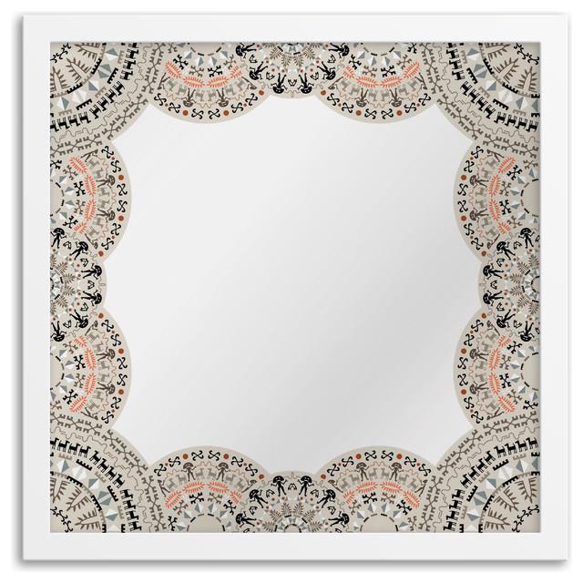 Gallery Direct Doily Border Art Mirror - Contemporary - Wall Mirrors ...