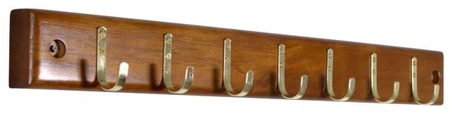 Proman Products Home Essential Belt Hanger Bar In Walnut.