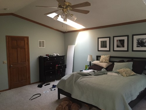 Master Bedroom Updates master bedroom update!! unsightly wood trim