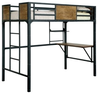 Clapton Loft Bed, Black, Twin