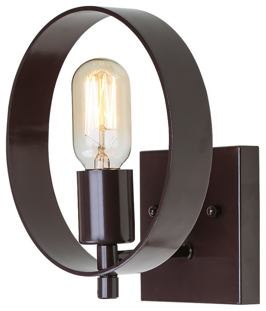 1-Light Round Wall Sconce
