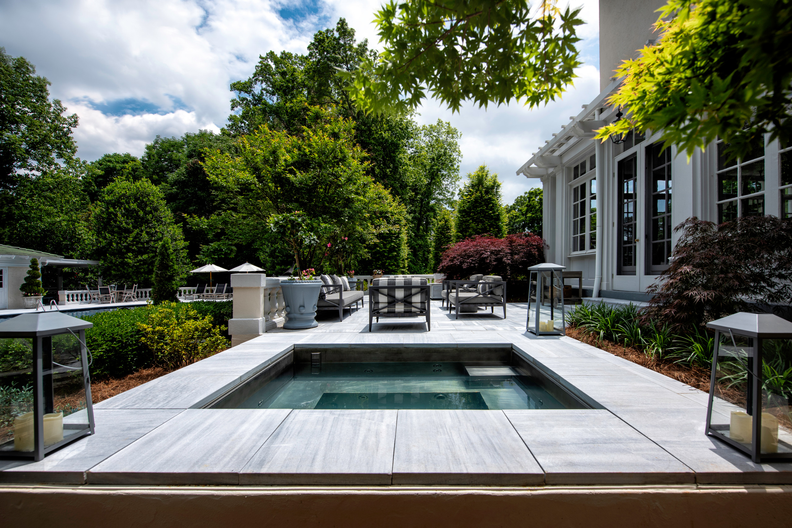 Luxury Marble custom Spa & Patio Renovation
