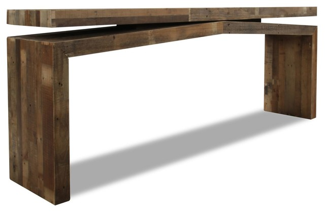 Tahoe ii console table contemporary console tables for Living spaces sofa table