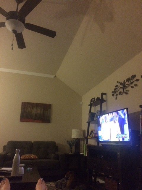 How To Paint Angled Wall/cieling?