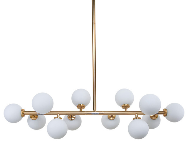 Linear Globe Kitchen Chandelier - Contemporary - Kitchen Island Lighting - by LNC Lighting