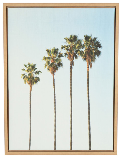 "Tree Canvas Wall Art palm trees"" canvas wall art, 18""x24"" - tropical - prints and"