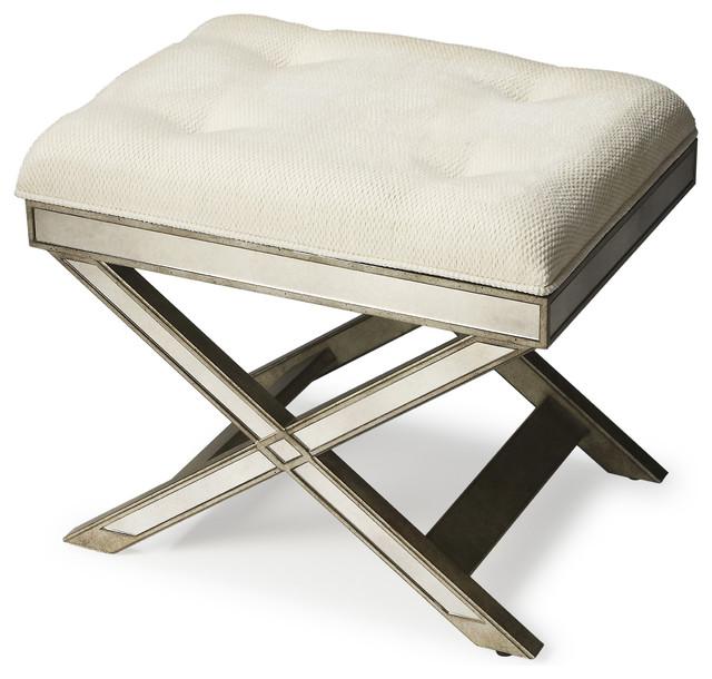Butler Transitional Vanity Stool Silver transitional-vanity-stools-and- benches  sc 1 st  Houzz & Butler Marlo Mirrored Vanity Stool Silver - Transitional - Vanity ... islam-shia.org