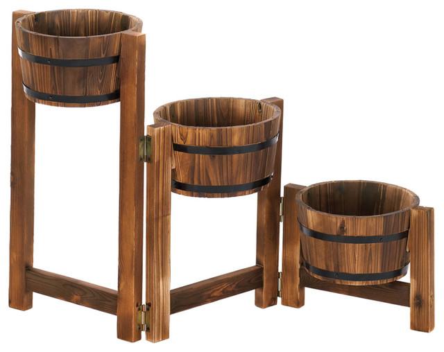 Koehler Apple Barrel Ladder Planter Rustic Indoor Pots