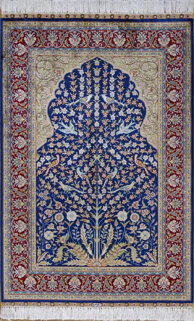2.7x4' Handmade Silk Rug Oriental Silk Carpet Turkish Silk Carpet - Traditional - Area Rugs - by Yilong Silk Rug Warehouse USA Inc.
