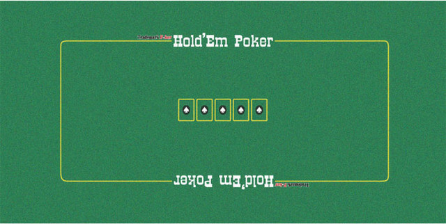 Texas Holdem Poker Table Layout Traditional Game Table Accessories