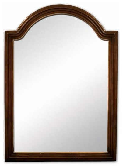 walnut bathroom mirrors bath elements compton 26 x 36 walnut mirror bathroom 15015