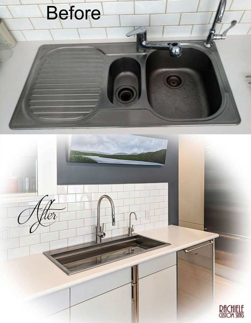 Before and After - Kitchen Sink