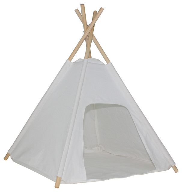 Dog Teepee with Floor Cover traditional-dog-beds  sc 1 st  Houzz & Dog Teepee with Floor Cover - Traditional - Dog Beds - by Dexton Kids