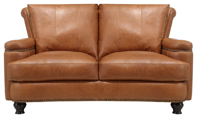 Leather Italia Usa Georgetowne - Hutton Loveseat In Brown 1669-2493-021540.