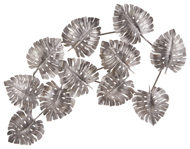 Metal Leaf Wall Decor Tropical Metal Wall Art