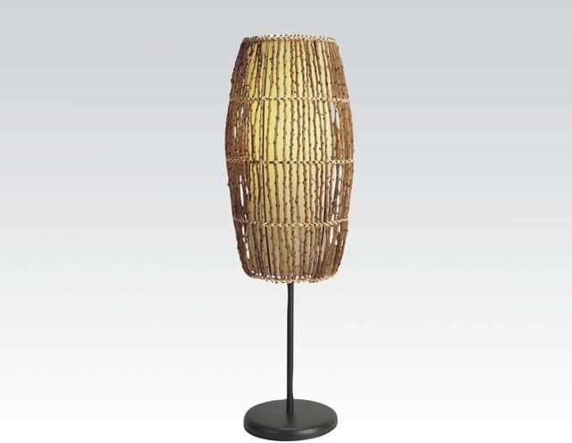 Basket Weaving Example Of Which Industry : Accent industry basket weave table lamp modern