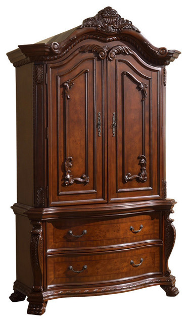 Luxor Cherry Armoire - Victorian - Armoires And Wardrobes ...