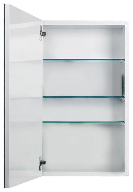 "Metro Classic 15"" X 25"" Beveled Medicine Cabinet, Recess Mount."