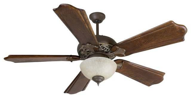 "Craftmade Mia 56"" Aged Bronze/vintage Madera Ceiling Fan W/ 5 Blades - K10323."