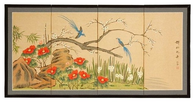 """Birds and Flowers are One, 18"""""""
