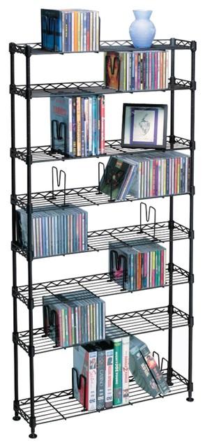 Atlantic Multimedia Storage Rack, 8 Shelves.