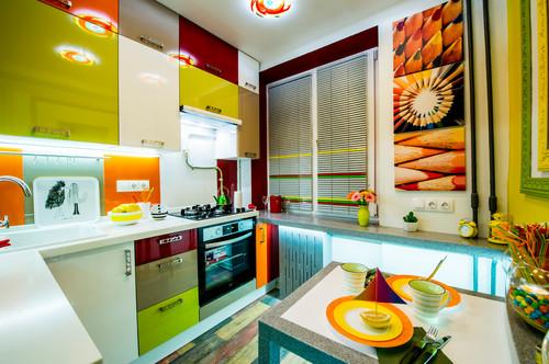кухня фото яркая