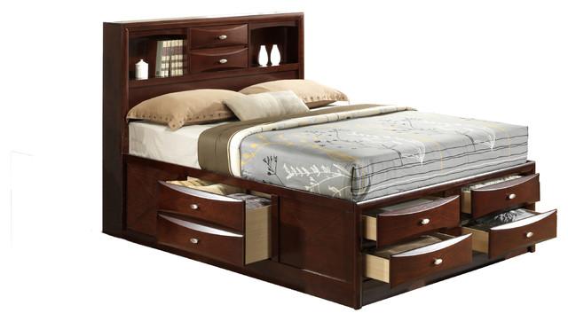 New Bed global furniture bed - transitional - platform beds -global
