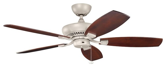 Kichler Canfield Climates Fan Motor, Antique Satin Silver.