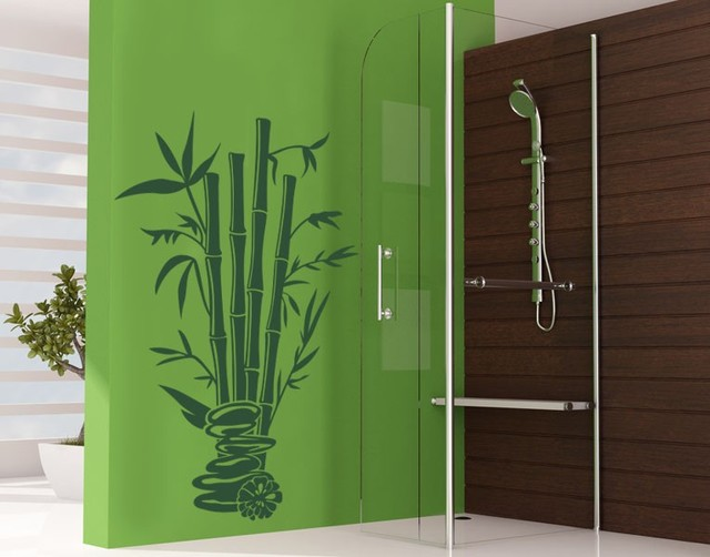 Bamboo Spa Bathroom Wall Decals Sticker Mural Vinyl Art Home Decor Contemporary Wall Decals By Style And Apply
