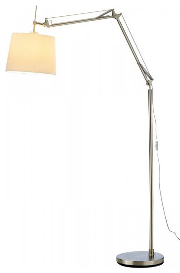 architect arc lamp satin steel 3157 22 contemporary floor lamps. Black Bedroom Furniture Sets. Home Design Ideas