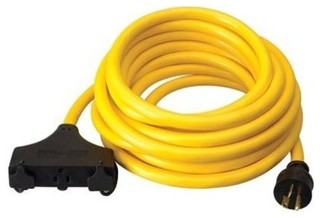 Coleman Cable Generator Extension Cord, 25', 3-Outlets - Contemporary - Extension Cords And ...