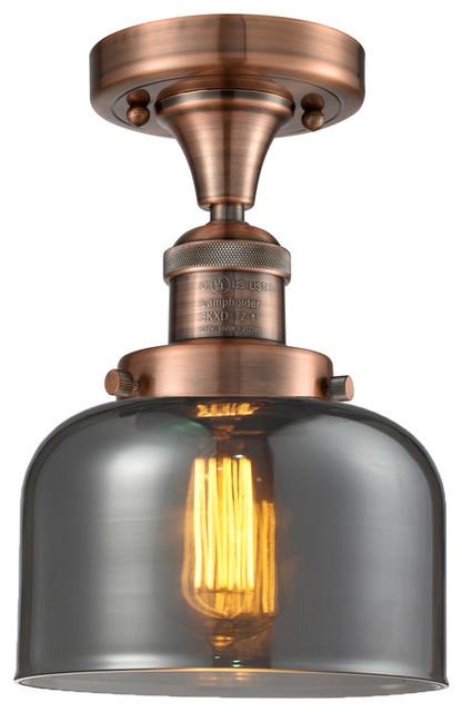 Innovations 517 Glass Semi Flush, G73, Antique Copper.