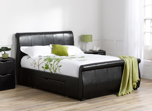 What Colour Furniture In Bedroom Grey Walls, Black Curtains, Black Bed
