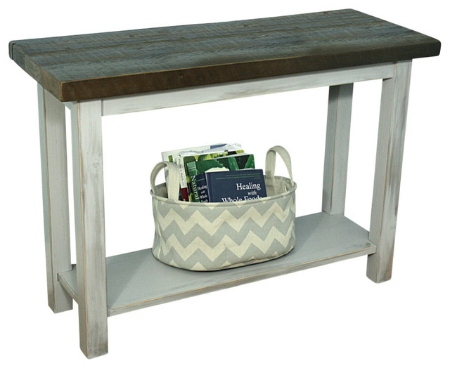 Blissopia console table with reclaimed top solid wood for 42 sofa table