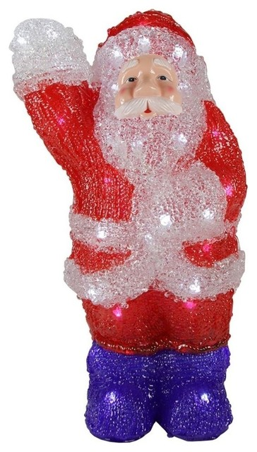Commercial Acrylic Waving Santa Claus Christmas Decoration