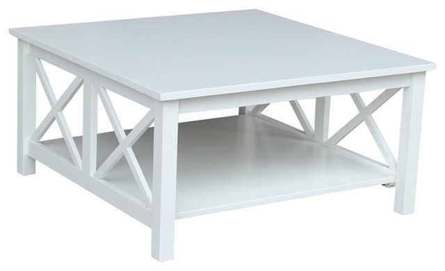 Hampton Square Coffee Table, White.