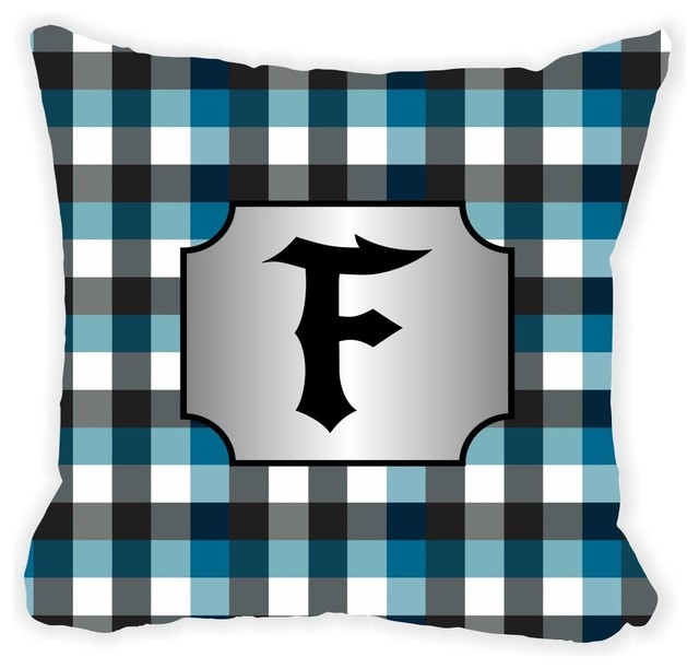 Black Microfiber Throw Pillows : Letter