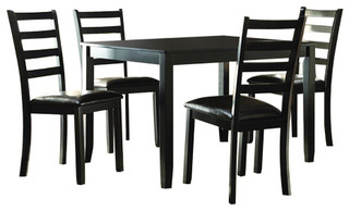 Homelegance Trask 5-Piece Rectangular Dining Room Set in Black
