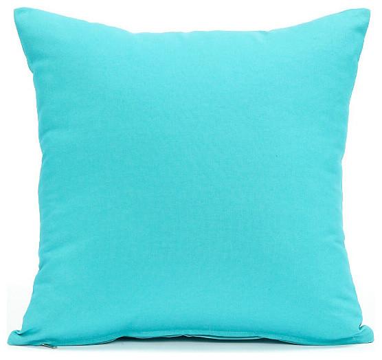 Preferred Solid Aqua Blue Pillow Cover Contemporary Decorative Pillows Wr07