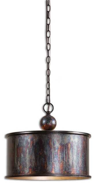 Albiano 1-Light Oxidized Bronze Pendant By Designer Carolyn Kinder