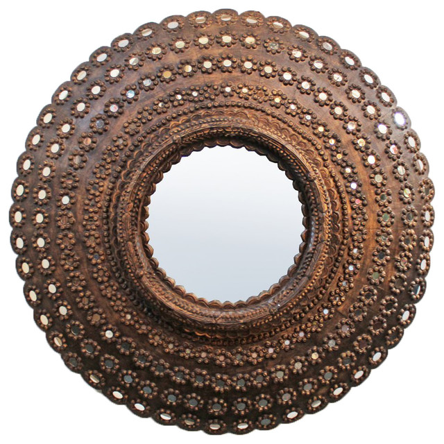 Completely new Round Peacock Mirror Frame - Mediterranean - Wall Mirrors - by  KM74