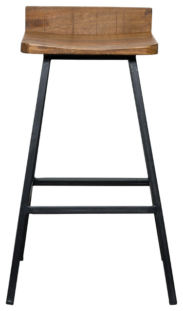 Kosas Home Pennie Mango Wood And Iron 30 Quot Barstool Bar