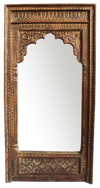 Rajasthan Archway Mirror Frame - Traditional - Wall Mirrors - by ...