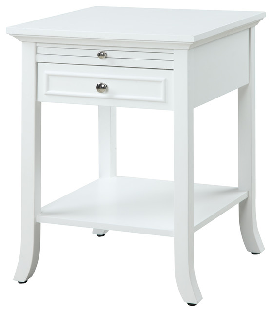 Logan Side Table ~ American heritage logan end table with drawer and slide