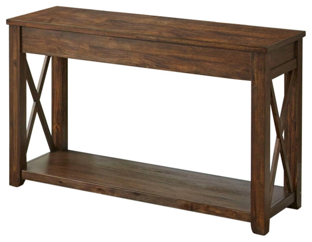 Lenka Sofa Table With Mocha Oak