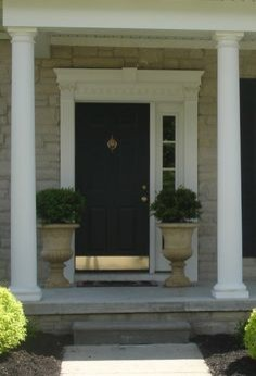 front door with one sidelightOk To Place Two Big Planters Beside Front Door That Has One Sidelight